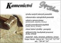 KAMENICTVÍ, POMNÍKY, NÁHROBKY - Gašpar Martin