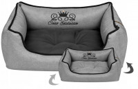 Luxusný a odolný pelech pre psa Royal Line Grey