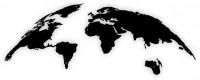 Kovové nástenné mapy sveta XXL