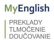 MyEnglish – preklady, tlmočenie, doučovanie
