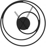 Kovové nástenné hodiny Simple, priemer 50 cm