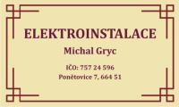 ELEKTROINSTALACE Michal Gryc